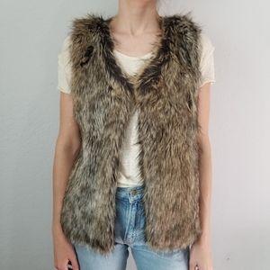 Faux Fur Vest H&M